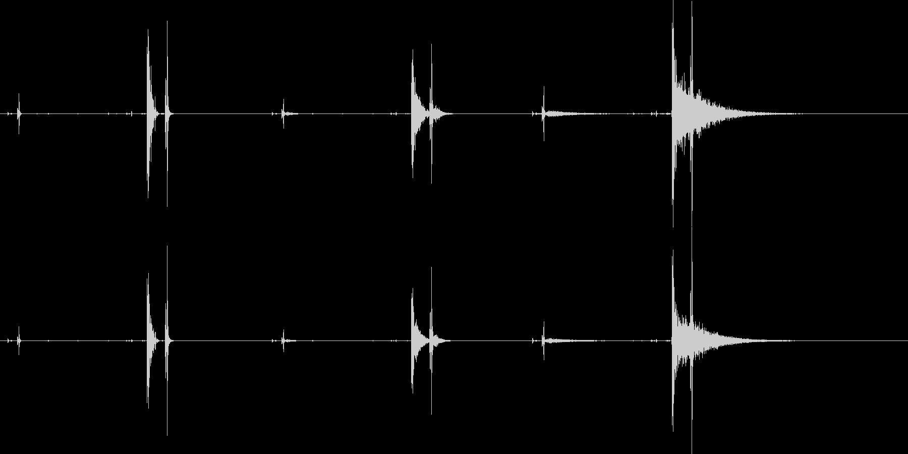 オープニング、クロージング、ウィン...の未再生の波形