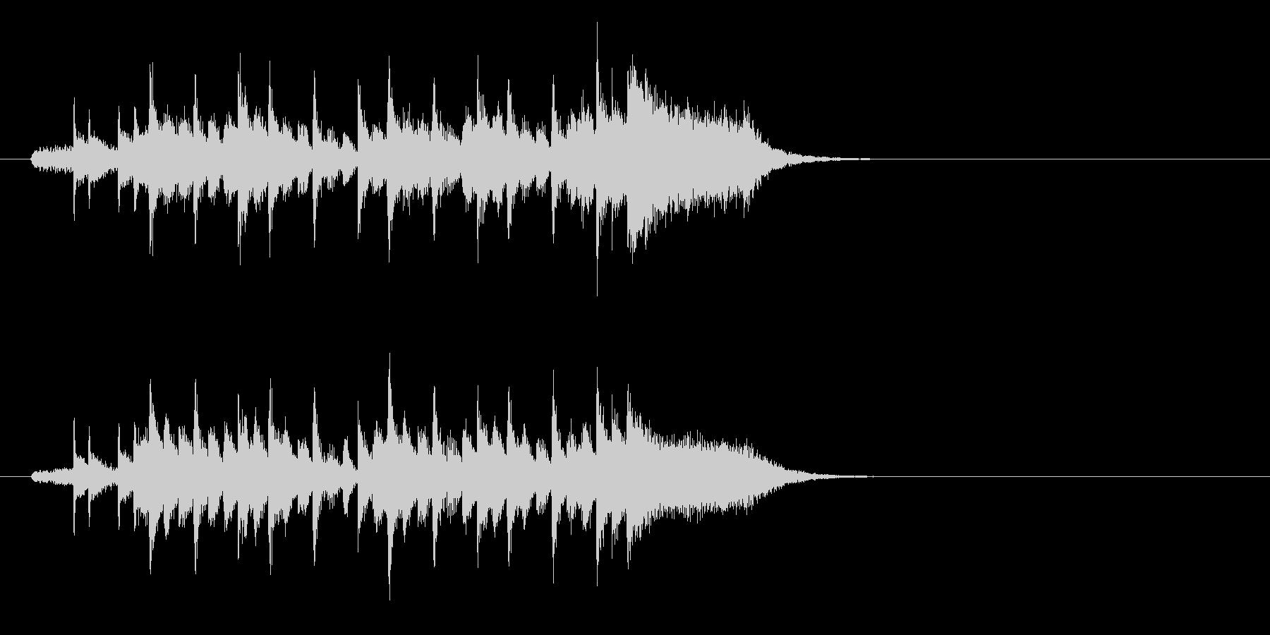 ジングル(キュートな感じ)の未再生の波形