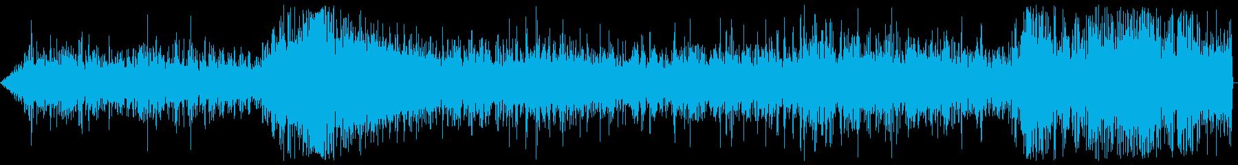 リアルで臨場感のある揚げ物の油のはねる音の再生済みの波形
