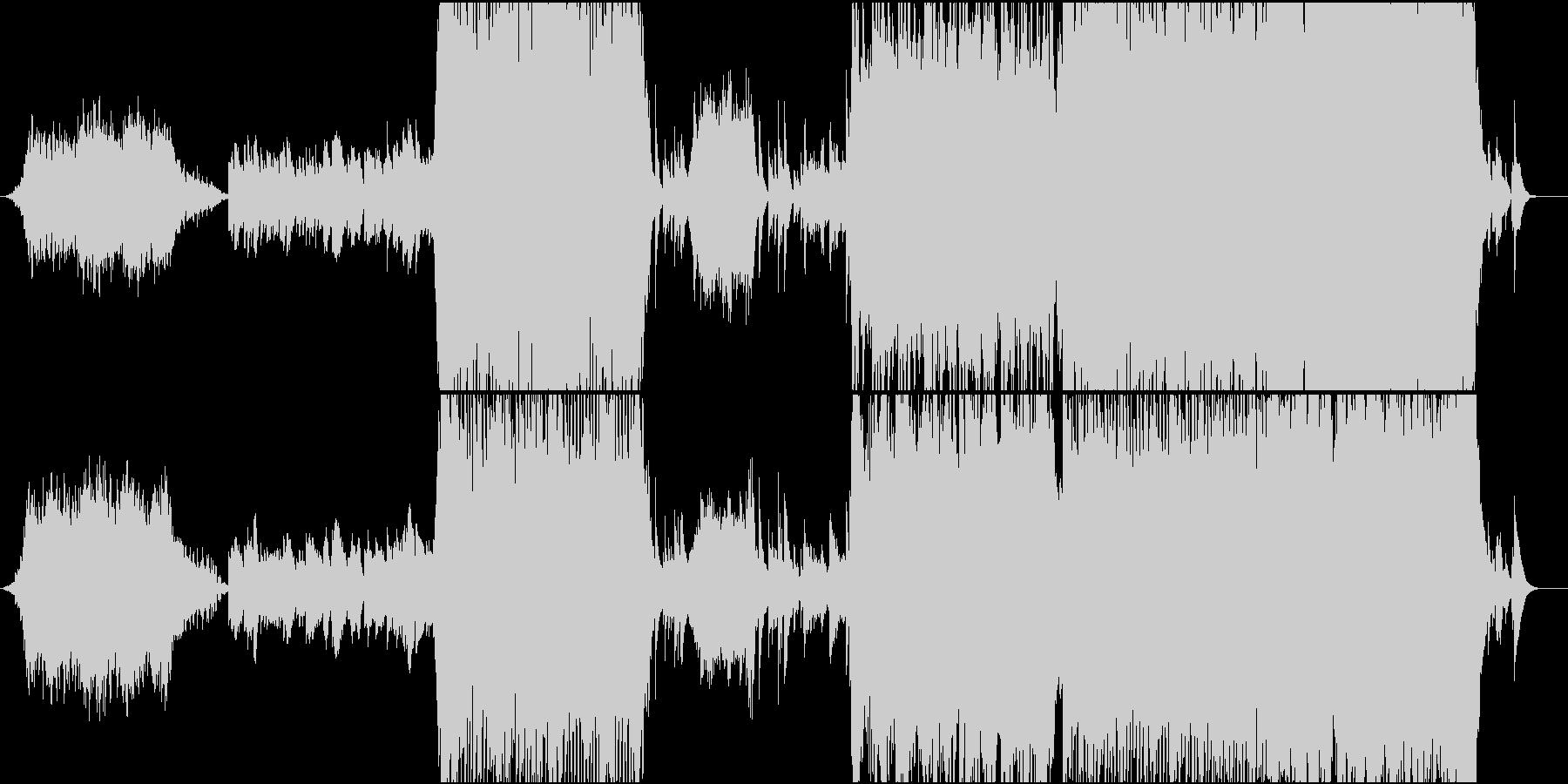 寺院をイメージした和風オーケストラの未再生の波形
