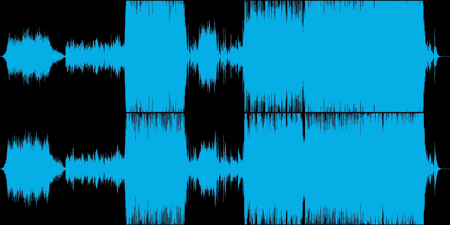 寺院をイメージした和風オーケストラの再生済みの波形