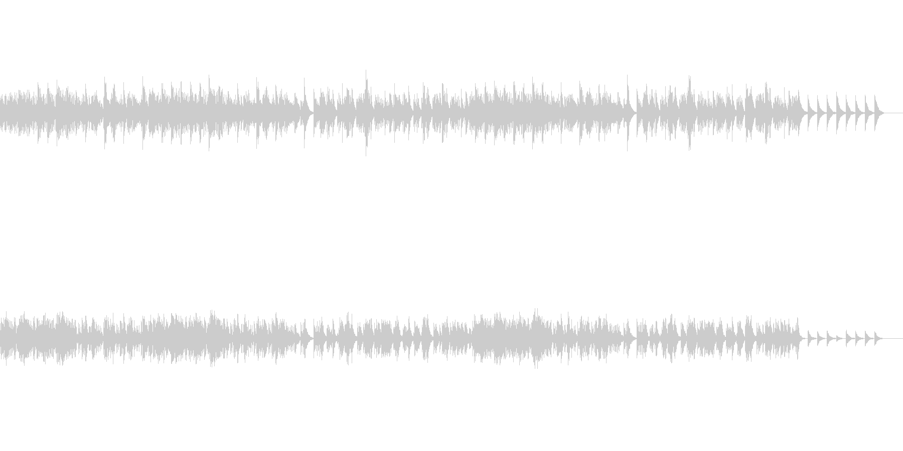 しっかりとした歌メロのあるオルゴール曲の未再生の波形