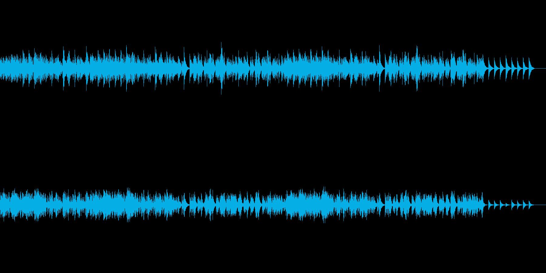 しっかりとした歌メロのあるオルゴール曲の再生済みの波形