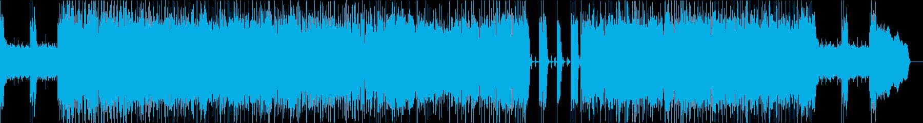 ギター生演奏!アップテンポなロックBGMの再生済みの波形
