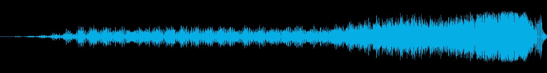 細いスワイプ5の再生済みの波形