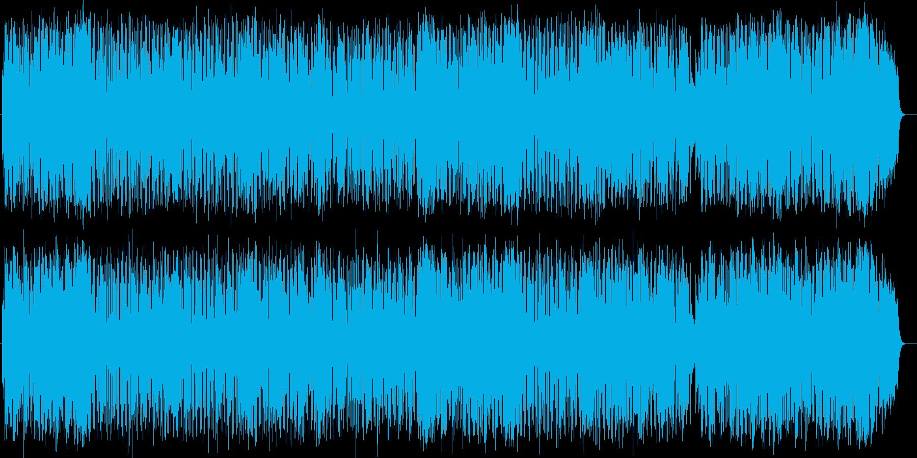 爽快で壮大なミディアムテンポのポップスの再生済みの波形