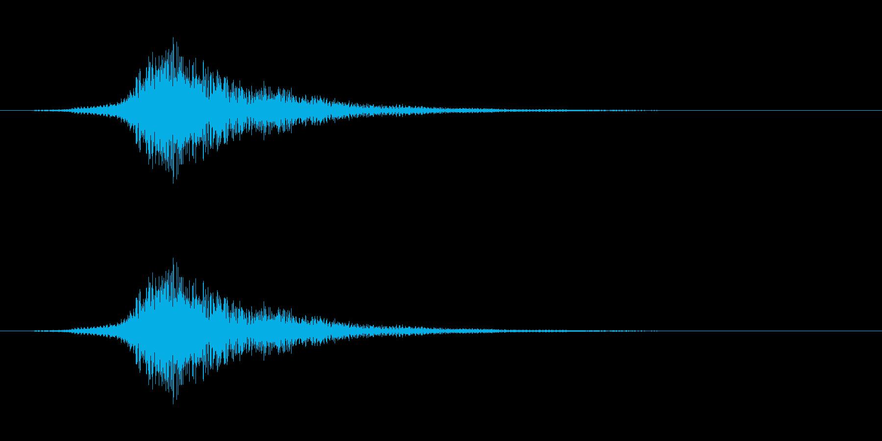 シューッという音EC02_60_2の再生済みの波形
