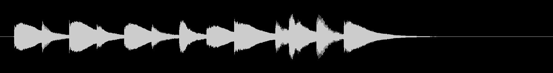 とぼけた雰囲気のサウンドロゴ、ジングルの未再生の波形