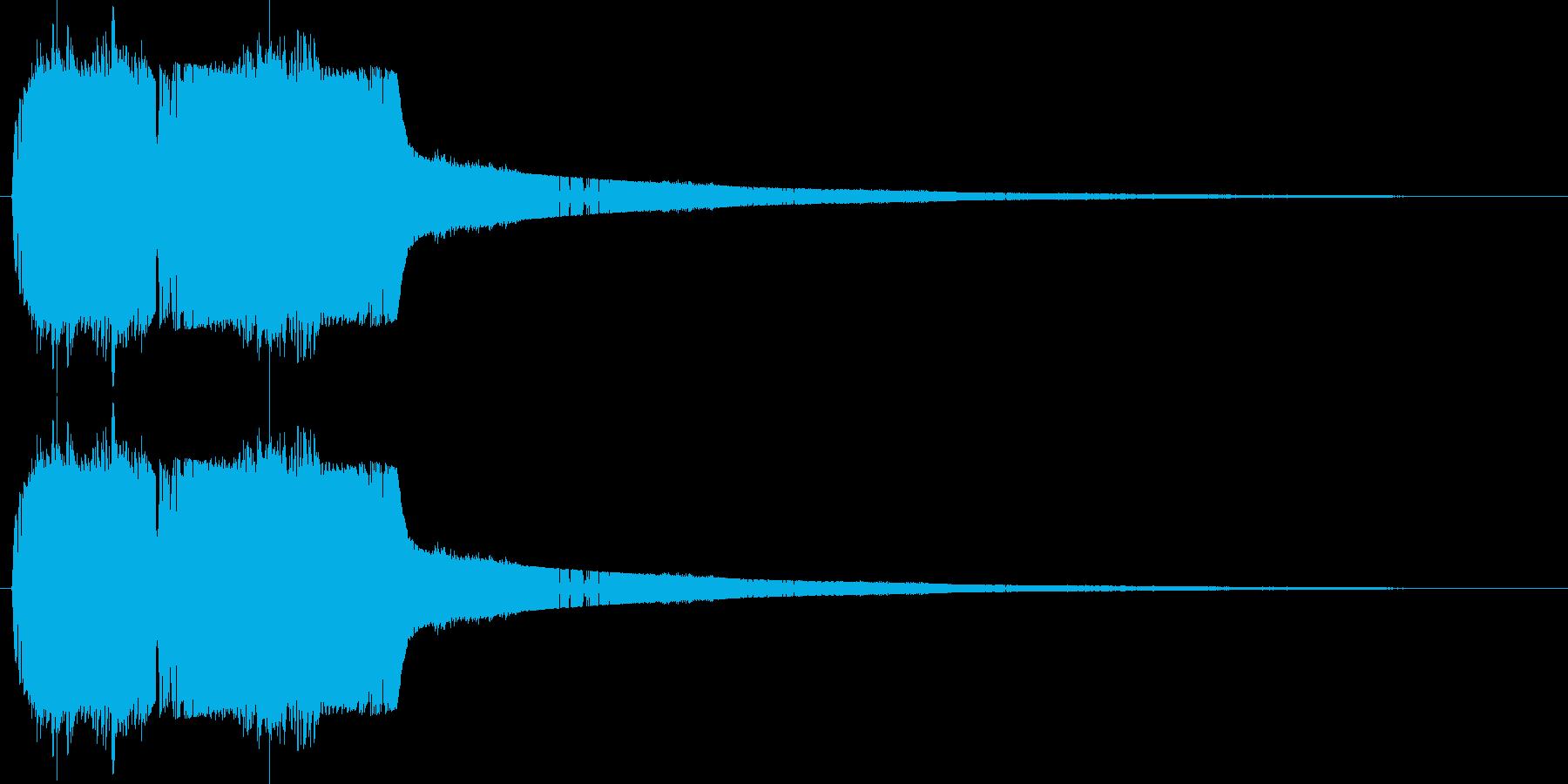 シャッと瞬間移動する01の再生済みの波形