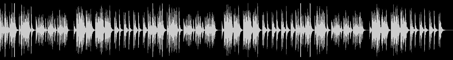 ダークでコミカルでシンプル、すこしかわいの未再生の波形