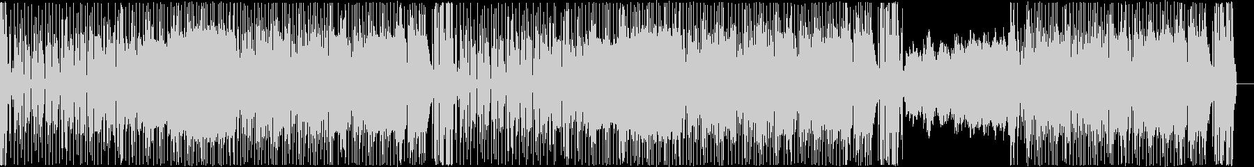 ゴスペル調BGMの未再生の波形
