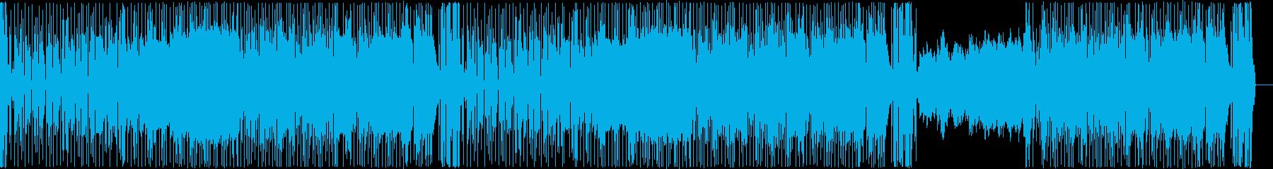 ゴスペル調BGMの再生済みの波形