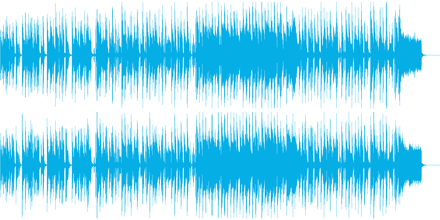 脱力系ほのぼの縦笛、動物、ペットの動画にの再生済みの波形