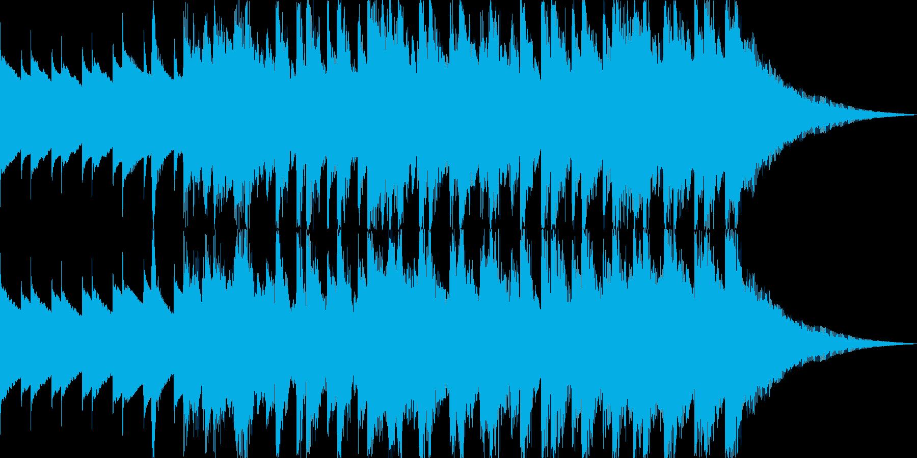 明るくハッピーでリズミカル15秒の再生済みの波形
