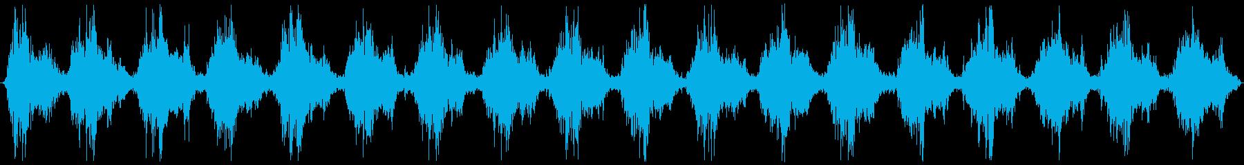 生録音の洗濯機音の再生済みの波形