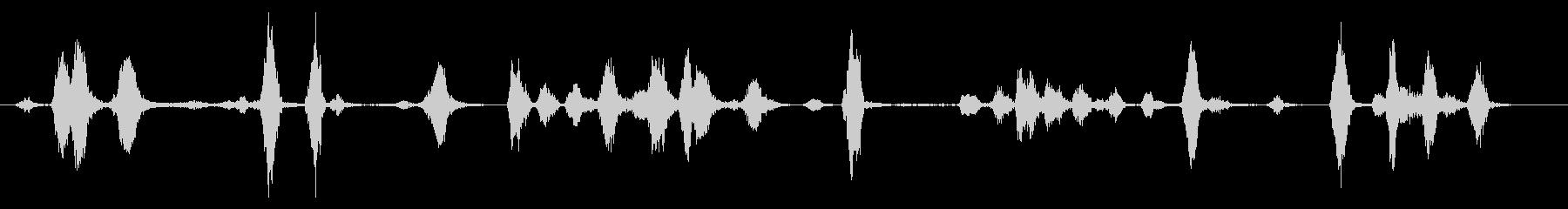 犬 犬近所バーククローズ02の未再生の波形