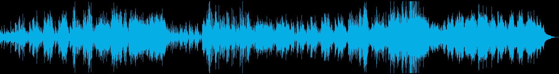 クラシックピアノ塔ドビュッシー壮大神秘的の再生済みの波形