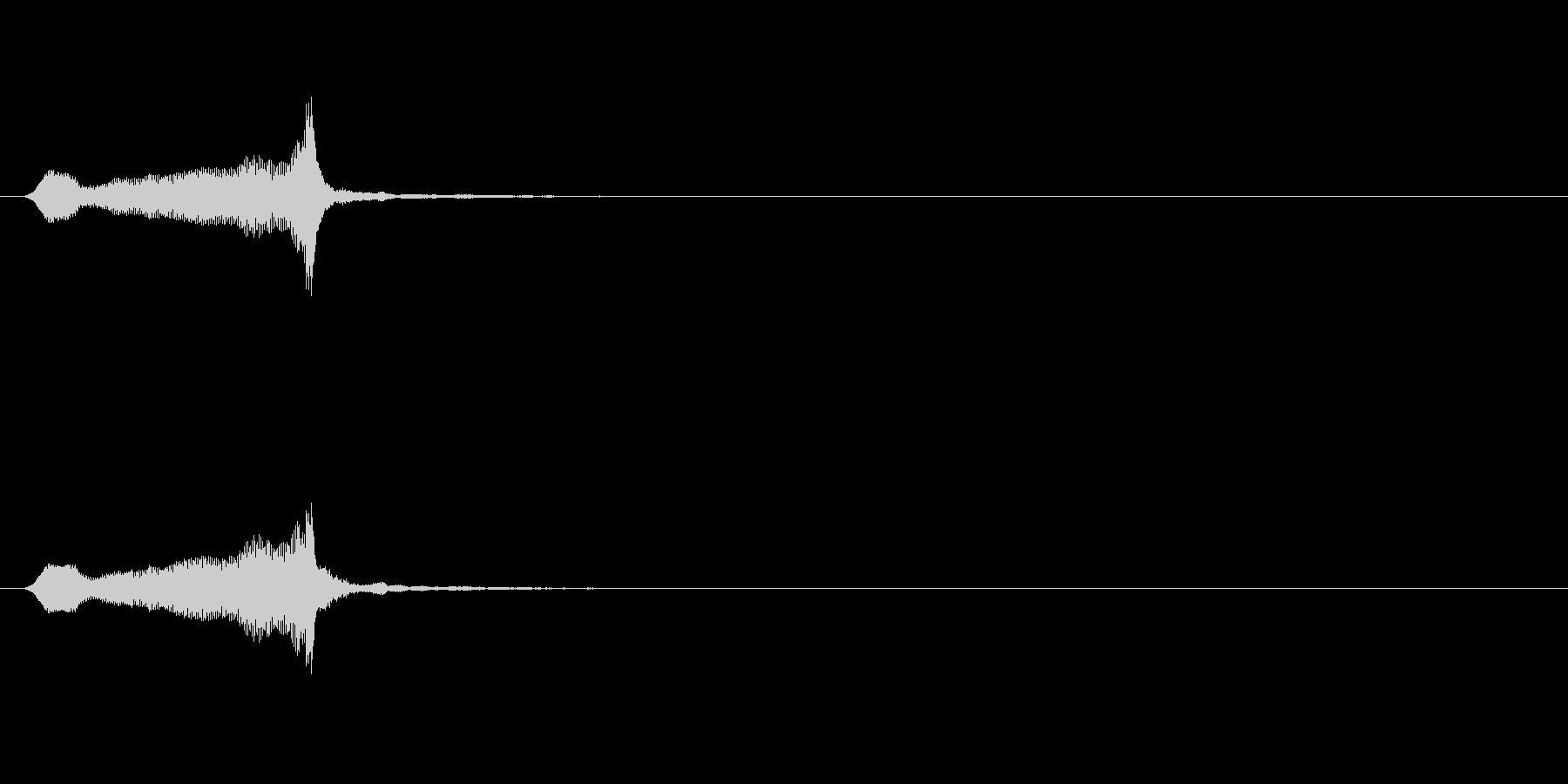 木製ダブルパイプ、ショートアクセン...の未再生の波形