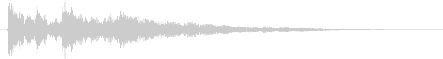 アコギ、爽やかなサウンドロゴ・ジングルの未再生の波形