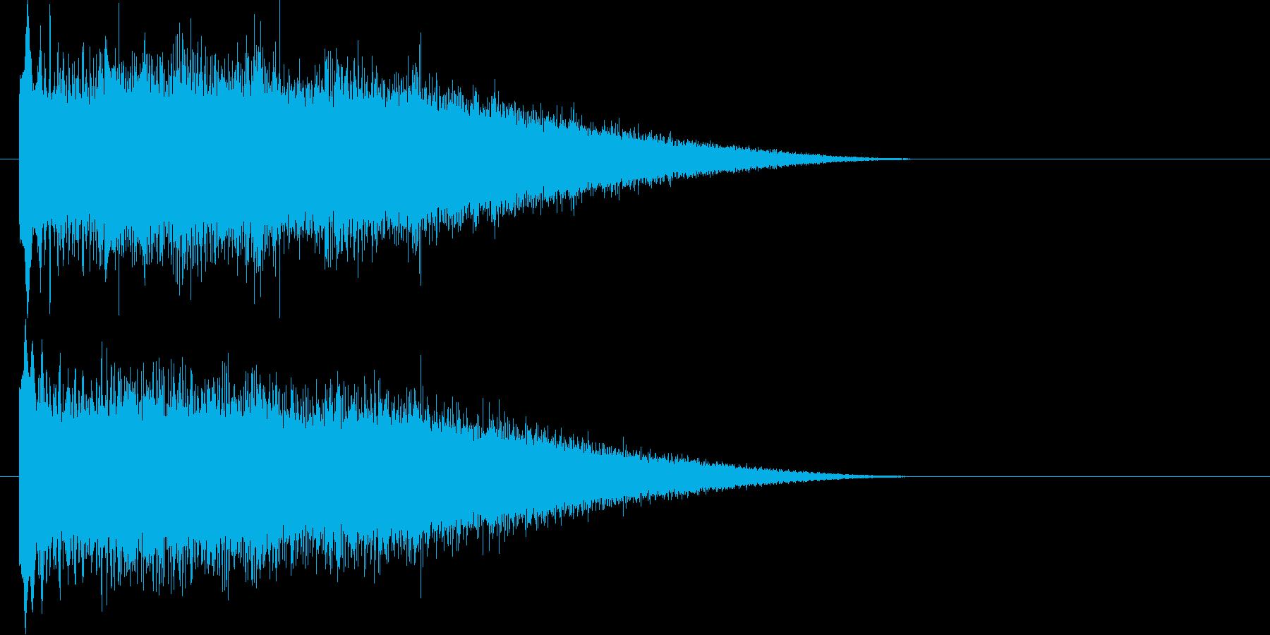 ぴゅーーん(大地を切り裂くビーム音)の再生済みの波形