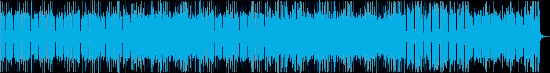激しい重低音が特徴的なメロディーの再生済みの波形