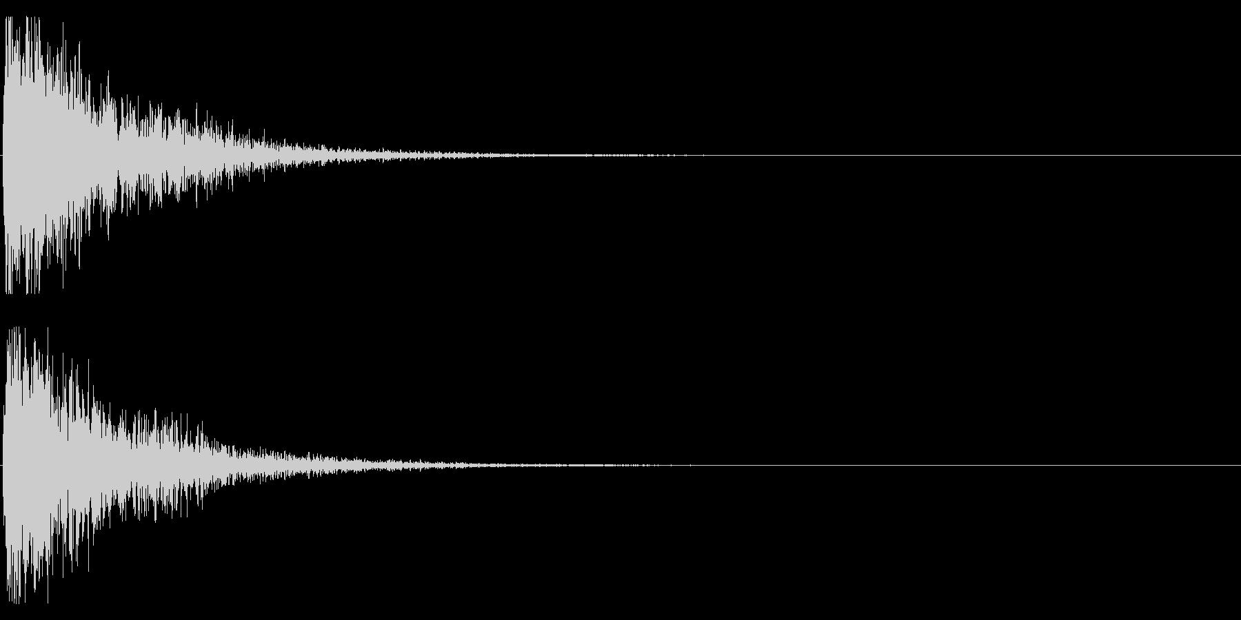 オケヒット LOWの未再生の波形