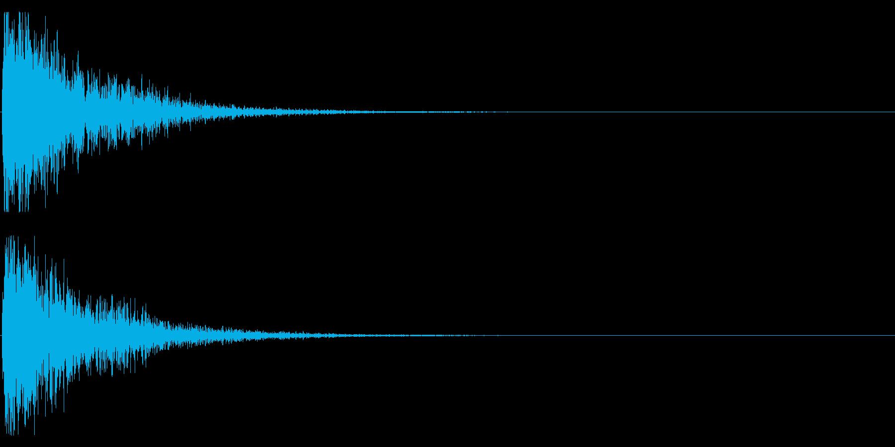 オケヒット LOWの再生済みの波形
