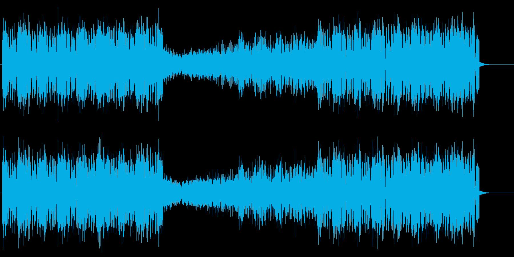 ワブルベースが特徴的なエレクトロハウスの再生済みの波形