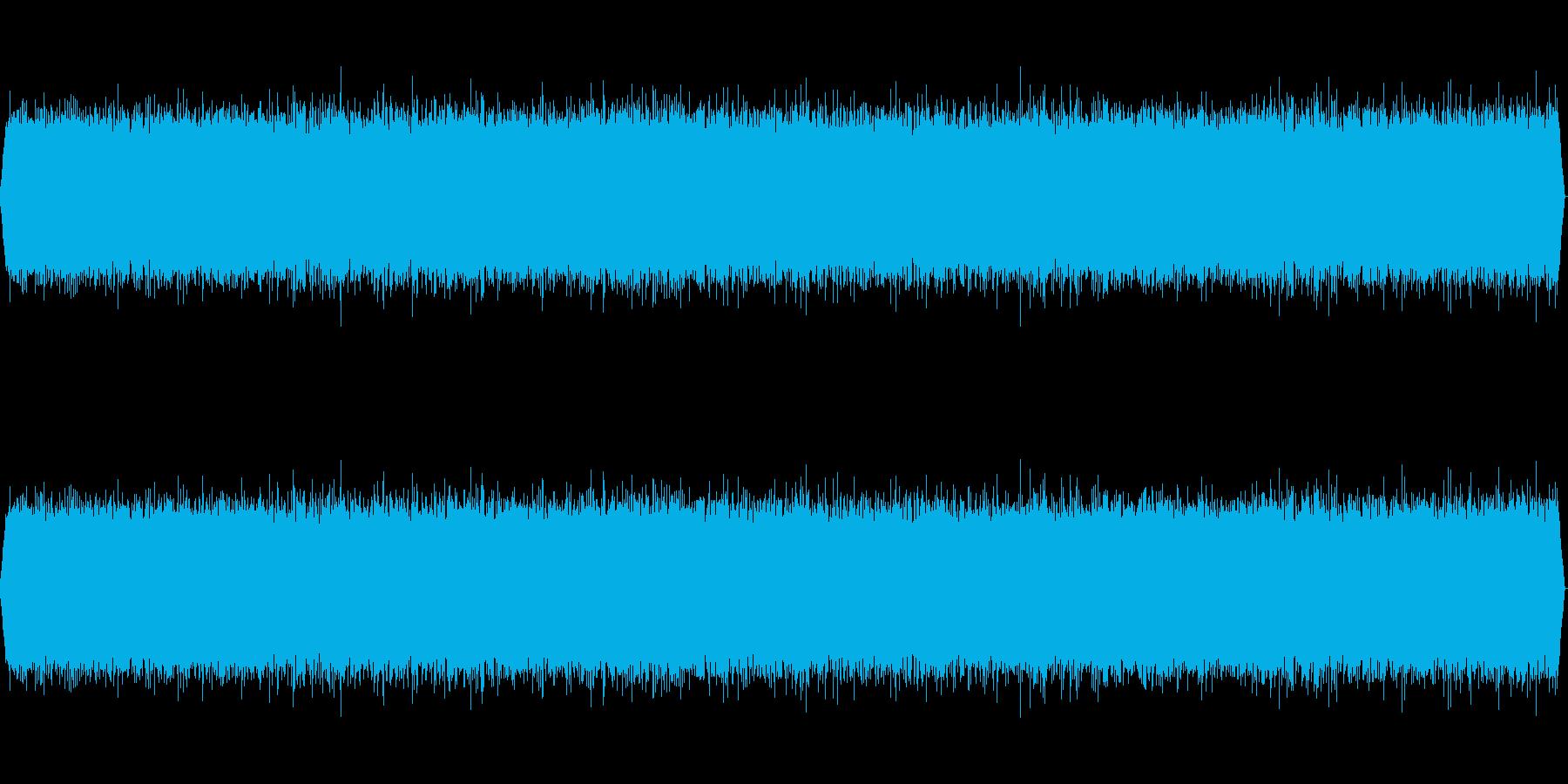 【ザー】ホワイトノイズの再生済みの波形