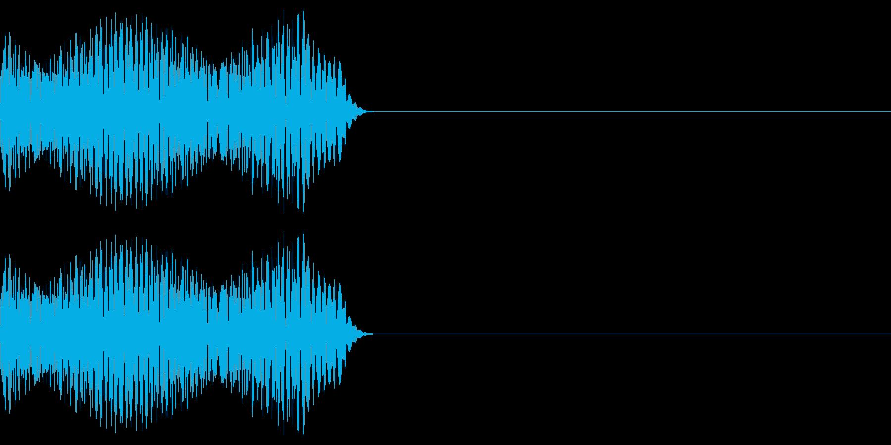 ゲーム等の禁止音「ブッ」 中くらいの音程の再生済みの波形