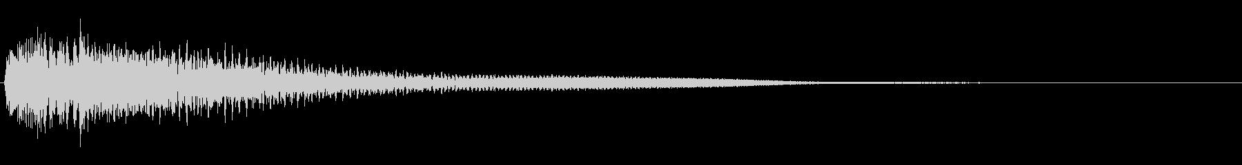 【生演奏】シンプルなピアノジングルの未再生の波形