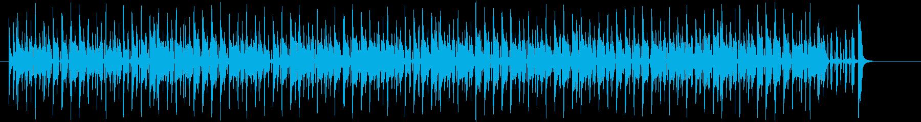 わくわく感のあるシンセサイザーサウンドの再生済みの波形