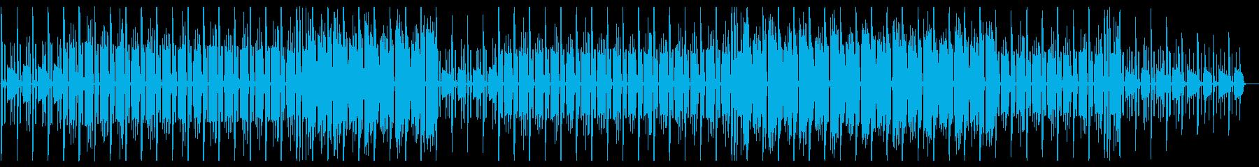 主旋律なしの明るいLofihiphopの再生済みの波形