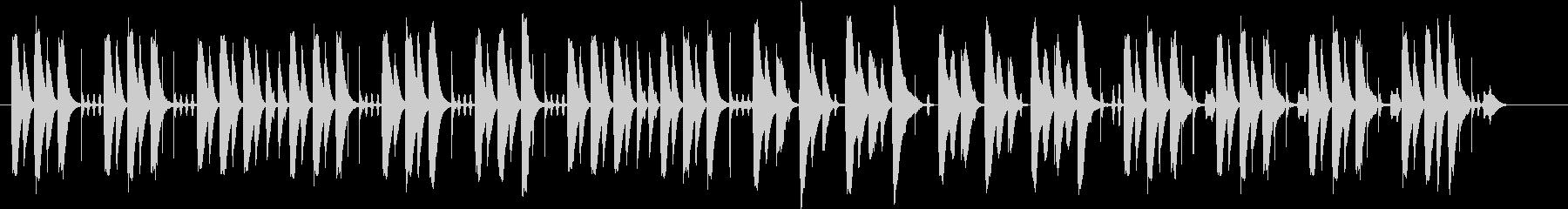 コミカルな場面で使える木琴の曲の未再生の波形