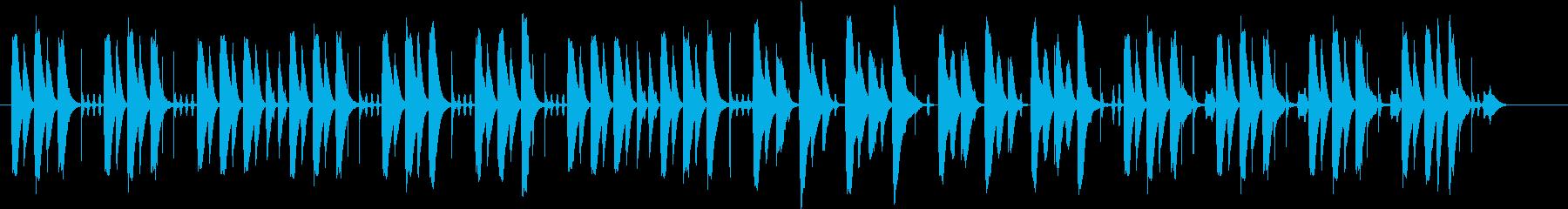 コミカルな場面で使える木琴の曲の再生済みの波形