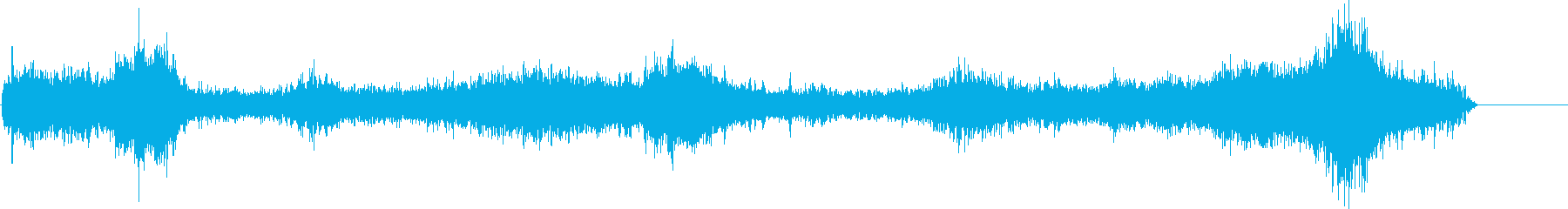 波の音ですの再生済みの波形