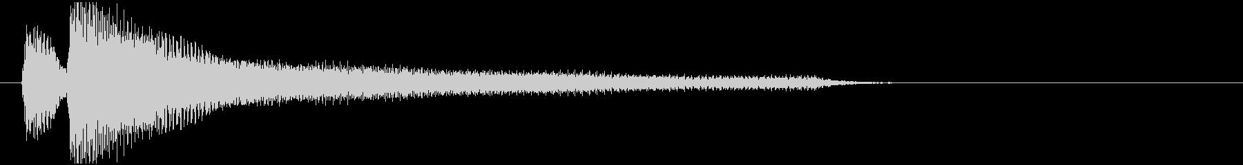 ジャジャーン(ピアノ)Lの未再生の波形