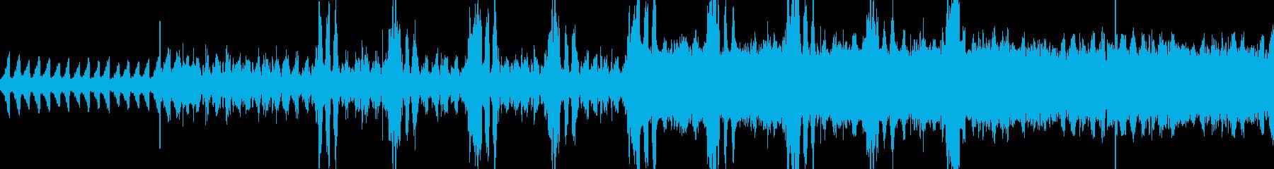 戦闘曲風味な曲の再生済みの波形