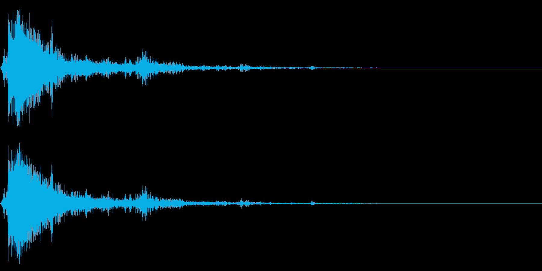 ドカーン!近距離での落雷(単発)の再生済みの波形