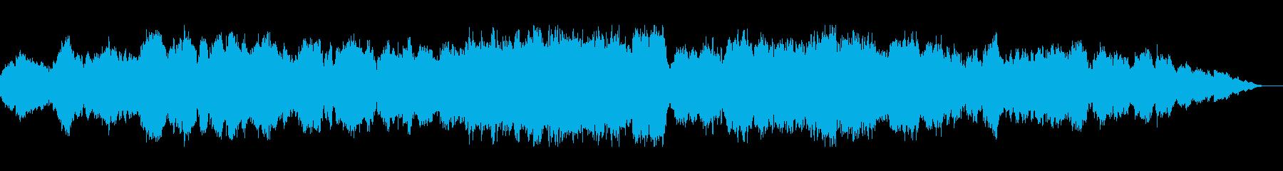ゆっくりしたオーケストラの曲の再生済みの波形