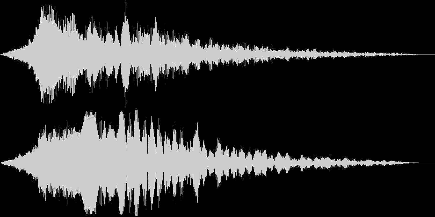 迫力のタイトルロゴ(映画・トレーラー)3の未再生の波形