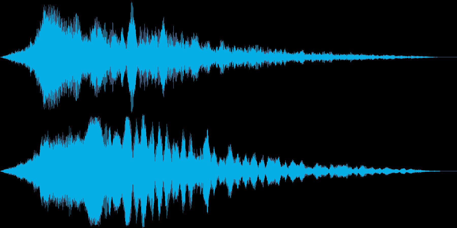 迫力のタイトルロゴ(映画・トレーラー)3の再生済みの波形