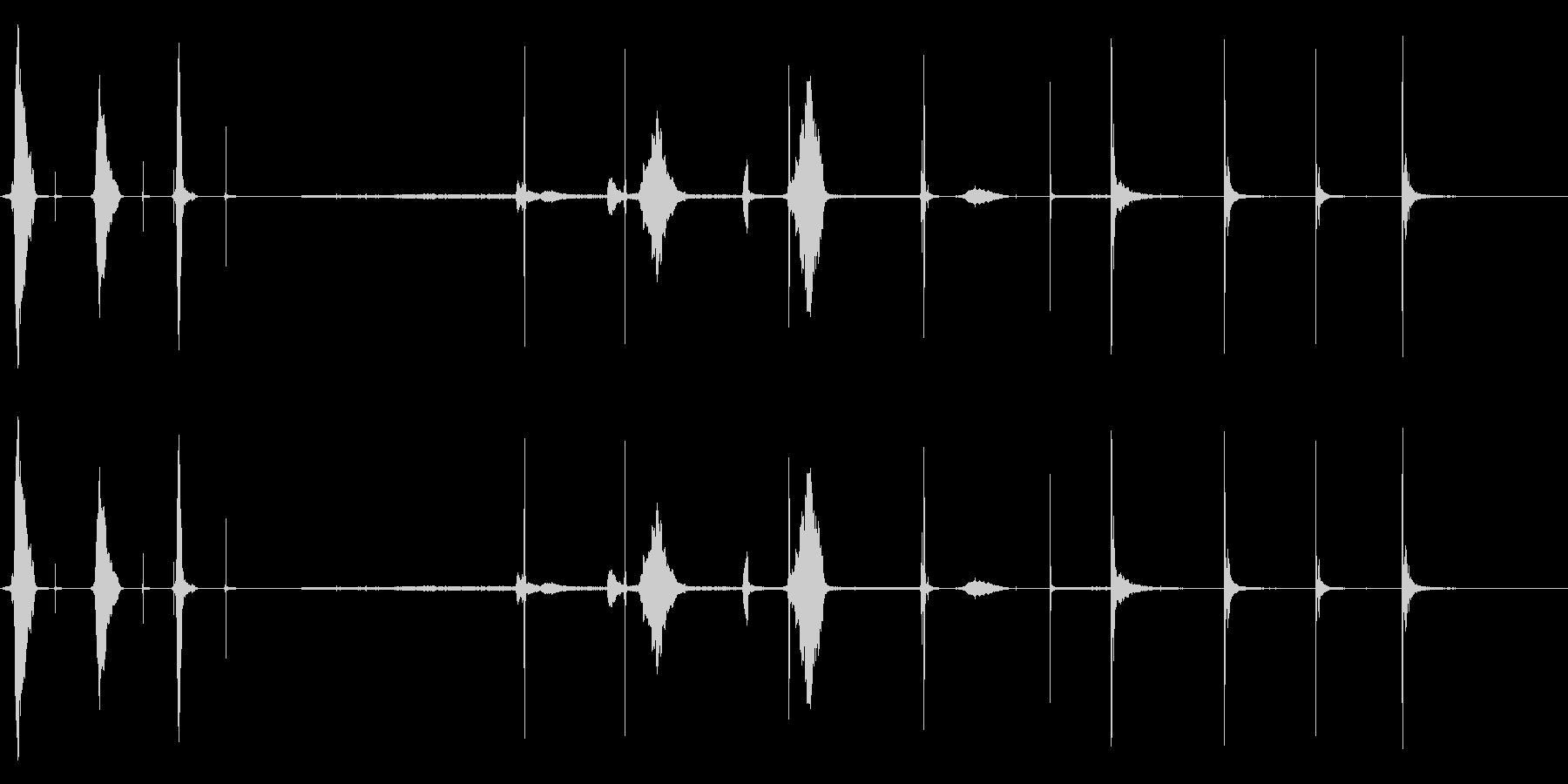 花火1の未再生の波形