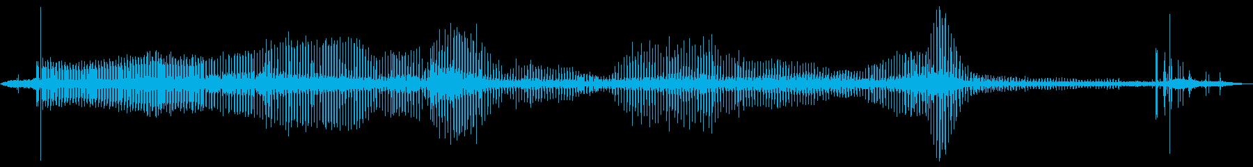 電磁干渉の再生済みの波形