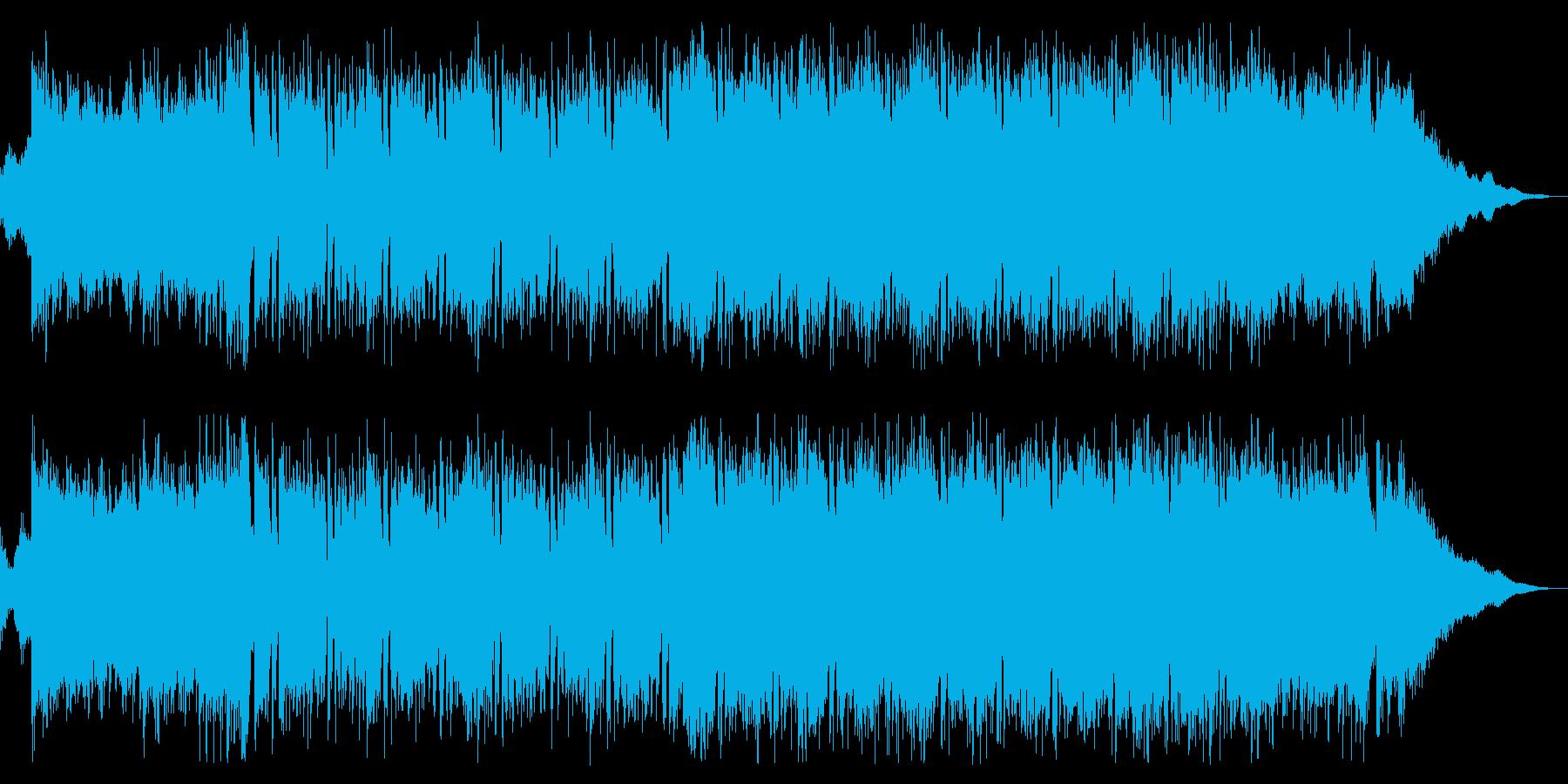 スタイリッシュで近未来的な明るいポップスの再生済みの波形