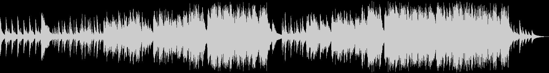 ピアノソロ ピアノバラードの未再生の波形