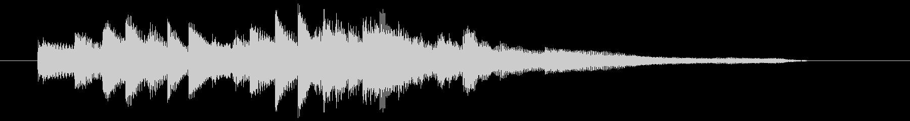 知的でシンプルなピアノのジングルの未再生の波形