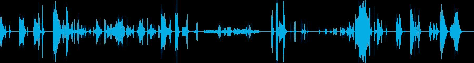 打楽器と弦楽器をメインとしたアンサンブルの再生済みの波形