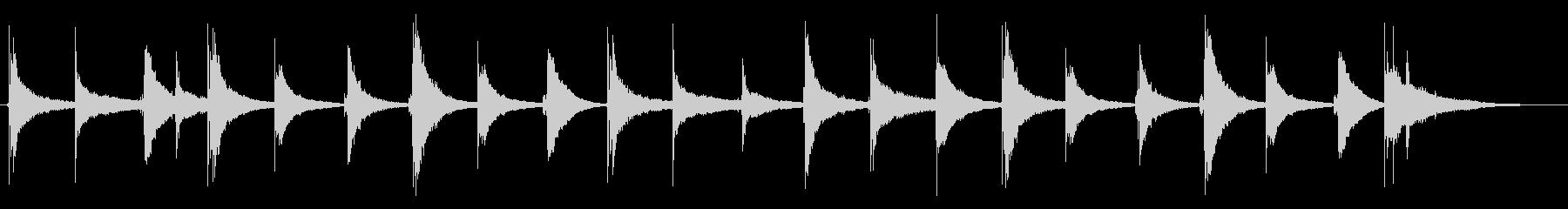 トイピアノ1の未再生の波形