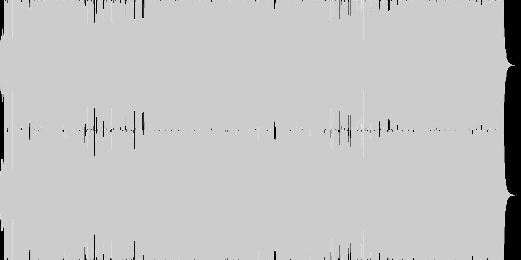疾走感・躍動感カッコいいドラムンベースAの未再生の波形